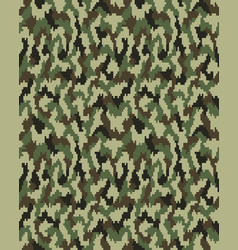 seamless fashion camouflage vector image
