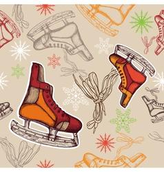 Seamless skates vector