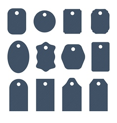 Set of jeans tags labels tickets and stickers vector