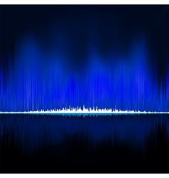 Sound waves oscillating on black background EPS 8 vector image vector image