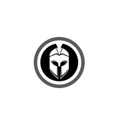 Spartan helmet logo template vector