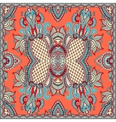 Square pattern design in ukrainian style for print vector