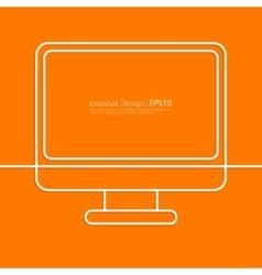 Stock Linear icon computer vector image vector image