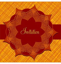 Temtlate for invitation vector image vector image