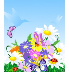 wildflowers vector image