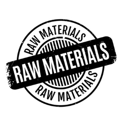 Raw materials rubber stamp vector
