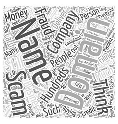 Scam domain names word cloud concept vector