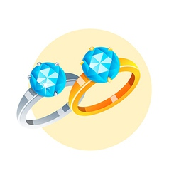 Icon rings vector