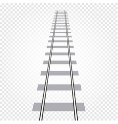 Isolated abstract grey color railway road on vector