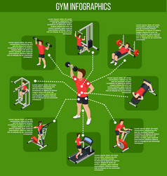 colored gym infographics vector image