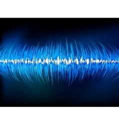 Sound waves oscillating on black EPS 10 vector image