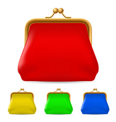colorful purses on white background for design vector image