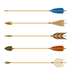 Archery arrows set isolated on vector
