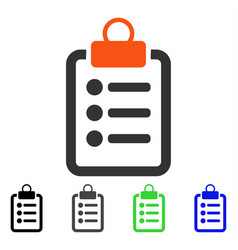 Pad list flat icon vector