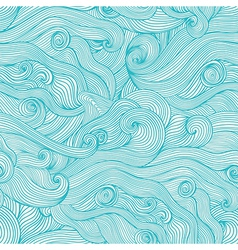 Seamless hand-drawn waves texturecopy that square vector