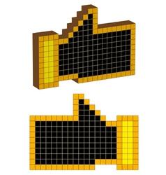 Hand of a pixel vector