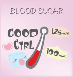 Blood sugar vector