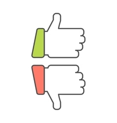 Thumb up and down vector