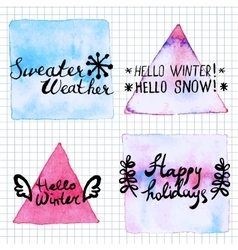 Winter lettering motivation saiyngs vector