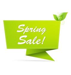 Sale spring banner vector