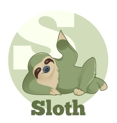Abc cartoon sloth vector