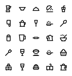 Kitchen utensils icons 2 vector