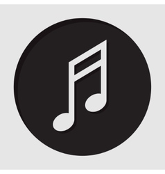 Information icon - musical note vector