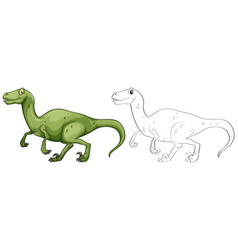 animal outline for t-rex dinosaur vector image vector image