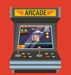 Arcade video game machine with level knight vector