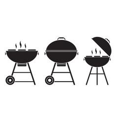 barbecue grill icon vector image vector image