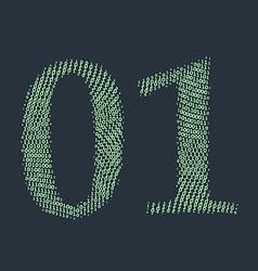 Binary code vector