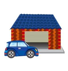 Car near garage vector