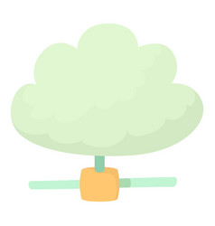 Cloud database icon cartoon style vector