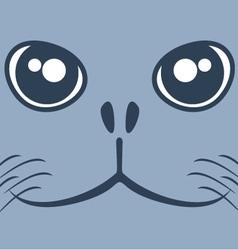 Dog seal face vector