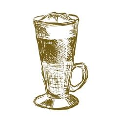 Doodle latte macchiato coffee vector