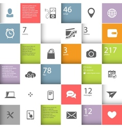 Infographic squares template vector image vector image