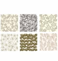leaf patterns vector image vector image