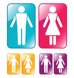 male and female wc sign vector image