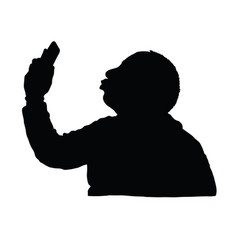 Man silhouette with mobile phone design vector