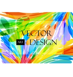 Multicolored background brush strokes vector