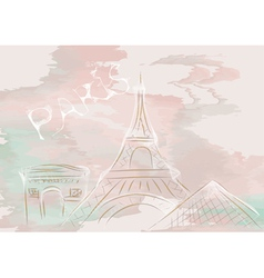 paris abstract skyline vector image vector image
