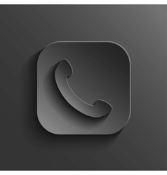 Phone icon - black app button vector image vector image