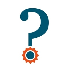 question mark isolated icon design vector image
