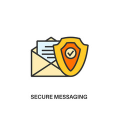 secure messaging icon vector image vector image
