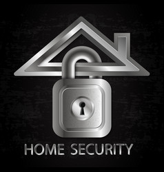 Security home symbol vector