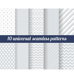 Set of ten subtle seamless patterns vector