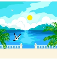 South idyllic seascape vector image