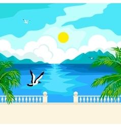 South idyllic seascape vector