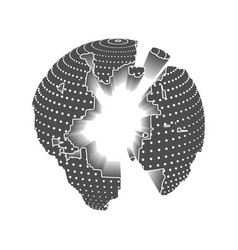 technology image of globe vector image vector image