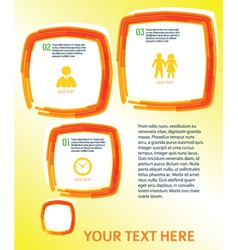 Template page layout leaflets effect paint brush vector